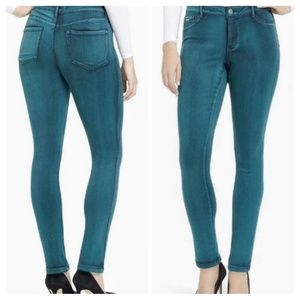 Nine West Green Jessica Jegging Mid-rise Size 8